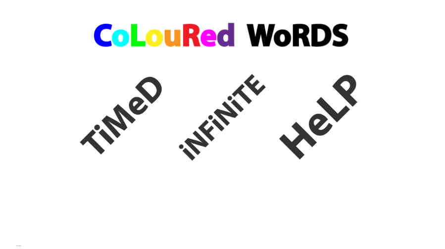 Coloured Words Screenshot 1