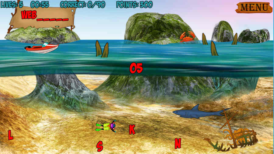 Shipwrecked Spelling Screenshot 3
