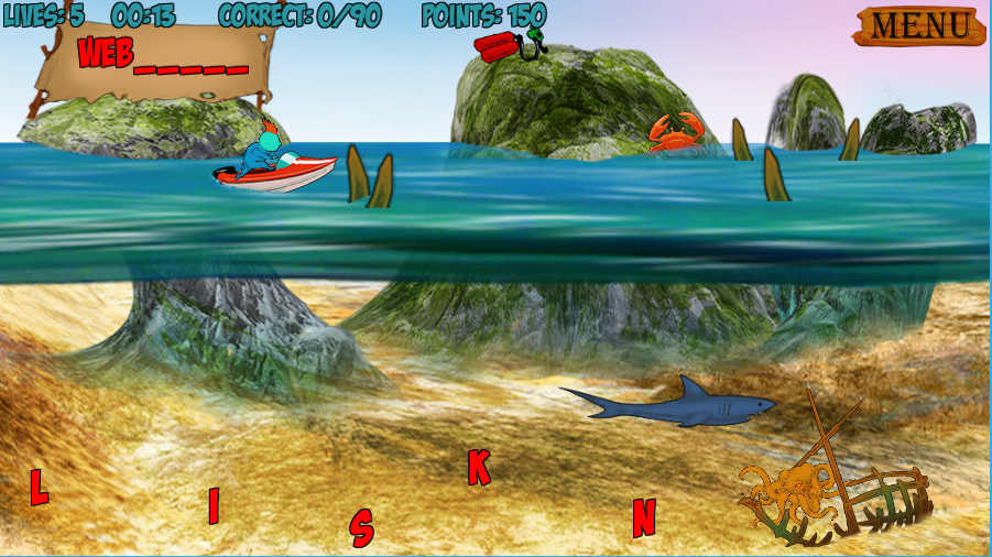 Shipwrecked Spelling Screenshot 2